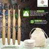 Greenvea kit zéro déchet salle de bain motif brosse à dent