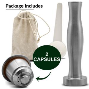 Greenvea capsules réutilisables contenu kit x 2